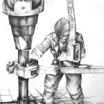 """oil rigger"" by cathryns"