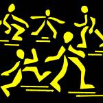 """the art of running yellow"" by alansmithart"