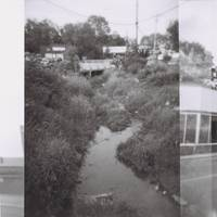 Holga photo of the stream near Our Community Place