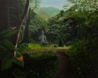 Buddha Statue in the Rainforest