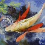 """Koi and Water Ripples"" by creese"