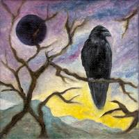 Winter Moon Raven