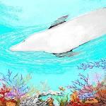 """""""underwater playful dolphin"""" by holyspiritflies"""
