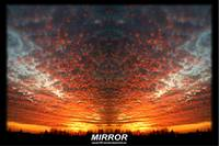 mirror image sunset