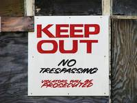 KEEP OUT Signage