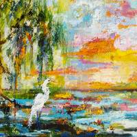 Okefenokee Magic Sunrise Oil Painting