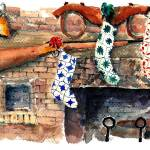 """""""Stocking hung on fireplace : 43"""" by OAKTREE"""