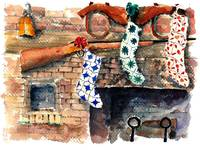 Stocking hung on fireplace : 43