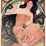 """Woman smoking by Mucha"" by postpainting"