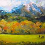 """Mount Sopris & Horses"" by laurelastor"