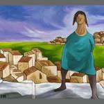 """""""WOMEN ON VILLAGE STEPS"""" by artistcain"""