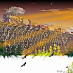 """Spokane International ""October Sunset"""" by ColoradoArt"