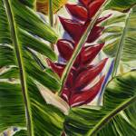 """Sunlit Heliconia In Crimson"" by JennyFloravita"