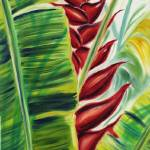 """Red Heliconia Glow"" by JennyFloravita"