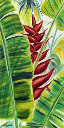 Red Heliconia Glow