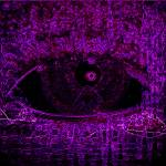 """Eye See Over Mountains (Purple)"" by ADDesigns"