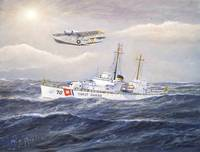 U. S. Coast Guard Cutter Pontchartrain and PBY
