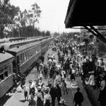 """Arrival of First Santa Fe Passenger Train into Eme"" by worldwidearchive"