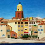 """Beach at La Ponche, St Tropez"" by CarrieWaters"