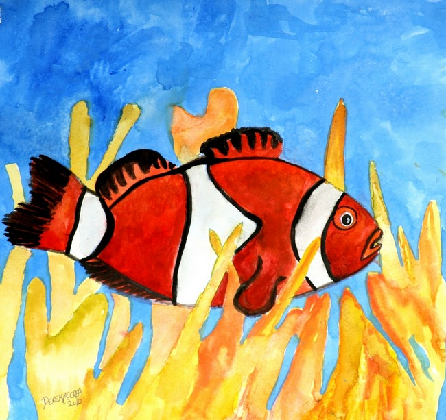 Stunning fishes aquarium sea life nautical artwork for for Sea life paintings artists