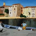 """Fisherman at La Ponche, St Tropez"" by CarrieWaters"