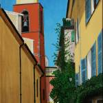 """Rue de lEglise, St Tropez"" by CarrieWaters"