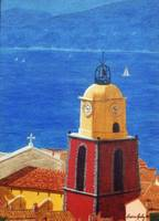 St Tropez Clock Tower no. 2