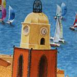 """St Tropez Clock Tower no. 3"" by CarrieWaters"