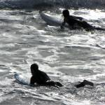 """""""two surfers going in"""" by VivianGerogianni"""