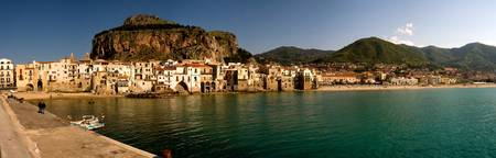 Golden Evening Sun in Cefalu, Sicily