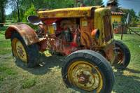 Rusty aged tractor