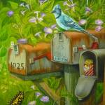 """Bird, Butterfly and Rural Mailboxes"" by vivianeagleson"