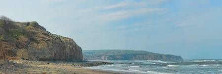 Stoupe Beck Sands - Ravenscar panoramic