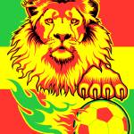 """African Soccer Lion"" by rustyoldtown"