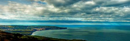 Robin Hood's Bay from above Ravenscar