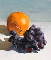 Mandarin and Grapes