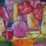 """""""Anthurium and red mug"""" by anagoldberger"""