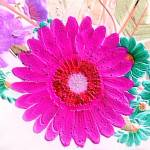 """Embossed & Alive - flower collage cool pink"" by mAsTeRpIeCe"