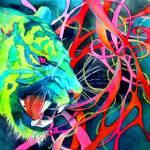 """""""Green Tiger"""" by Artgoddessmama"""