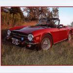 """1974 Triumph TR6"" by Digitaldreamsphotography"