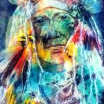 """Chief Two Moons I"" by allinghamcarlson"
