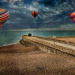 """Beachscape with Doughnut & Balloons"" by ChrisLord"