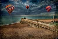 Beachscape with Doughnut & Balloons