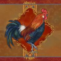 Rooster with Wheat II