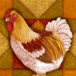 """Rooster Quilt I"" by shariwarren"