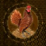 """Seabright Rooster Golden"" by shariwarren"