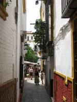 An Alley View In Seville, Spain