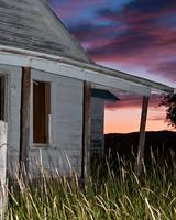 Abandoned Homestead at Sunset