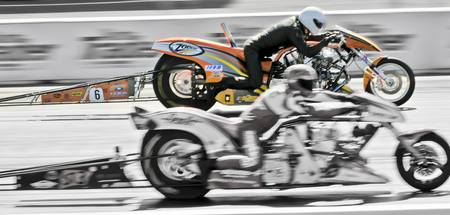 Super Twin Drag Bikes at Santa Pod, UK