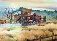 DRYCREEK STATION & STAGECOACH by SHARON SHARPE